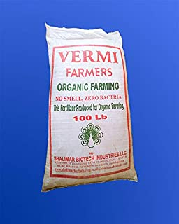 Shalimar Farmer's 100% Vermi Compost - 100 LB