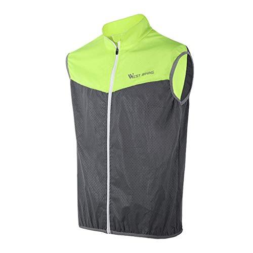 DBSCD Sicherheitsweste für Männer, Sicherheitskleidung Sicherheitsweste Reflektierende Weste Fahrradfahren Reflektierend Atmungsaktiv (L)