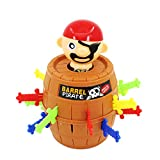 Halloluck Pirate Barrel Game, Pirate Funny Barrel Novelty Toy Bucket, Adult Kids Pirate Bucket Tricky Toy Party Game, Lucky Stab Game Toys Intellectual Game