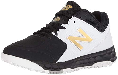 New Balance Women's Fresh Foam Velo V1 Turf Softball Shoe, Black/White