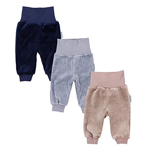 TupTam Baby Jungen Nicki Hose Jogginghose 3er Pack, Farbe: Farbenmix 1, Größe: 74
