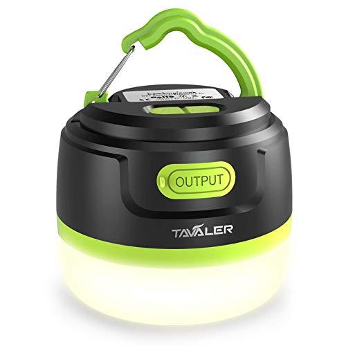 Tavaler Campinglampe LED 5200 mAh Akku Zeltlampe USB Aufladbar Camping Lampen IP65 Wasserdicht Camping Licht mit Taschenlampe Funktion für Wandern, Notfall, Camping Laterne