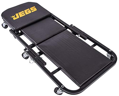 JEGS 2-in-1 Folding Creeper And Z-Seat   300 LBS Capacity   Utilizes Six Caster Wheels