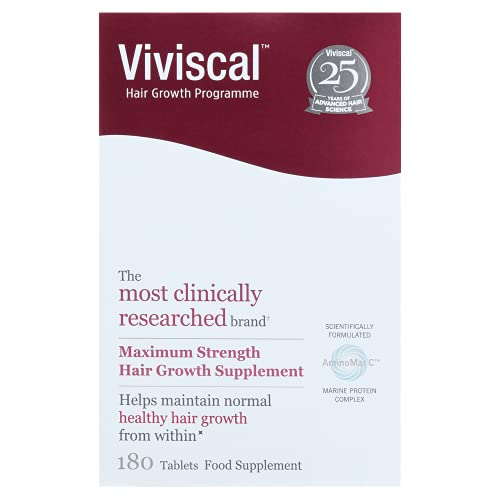 Viviscal - Maximum Strength Hair Supplements, Pack of 180 Tablets (3 Month...