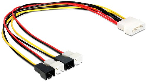 DELOCK Power Molex 4-pins stekker > 4x 2-pins stekker ventilator