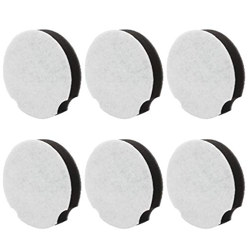 6 Pack Replacement Filter Compatible with Bissell PowerForce Compact Lightweight Upright 1520 Series and 2112 Series Vacuum Cleaner, Compare to Part #1604896/160-4896