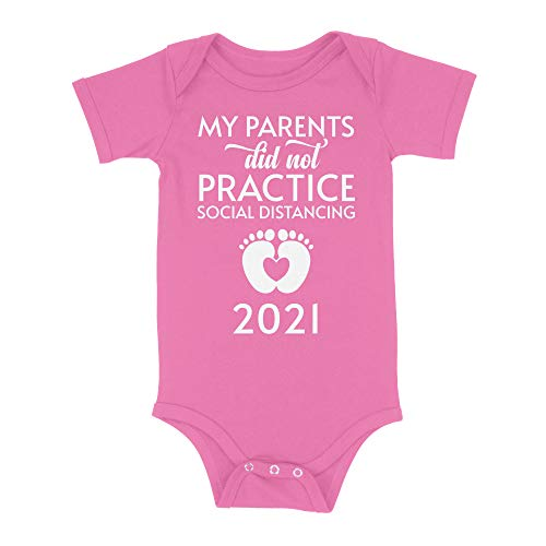 Luxxology My Parents Did Not Practice Social Distancing Baby Onesie, Pink NB