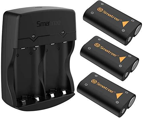 Smatree 3x2600mAh Batería de Controlador Xbox Series X, Xbox Series S, Batería Recargable &Cargador de Batería Dual para Xbox Series X, Xbox Series S, Xbox One, Xbox One Elite, Xbox One S, Xbox One X