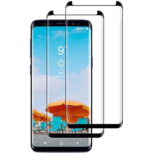 CNXUS [2-Pezzi Vetro Temperato Compatibile con Samsung S9 Plus, Pellicola Protettiva Samsung S9 Plus, Durezza 9H, Alta Trasparenza, Ultra Resistente, Anti-Graffi, Anti-Impronte