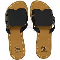 Jiajiale Women's Slide Open Toe Fashion Flat Sandals