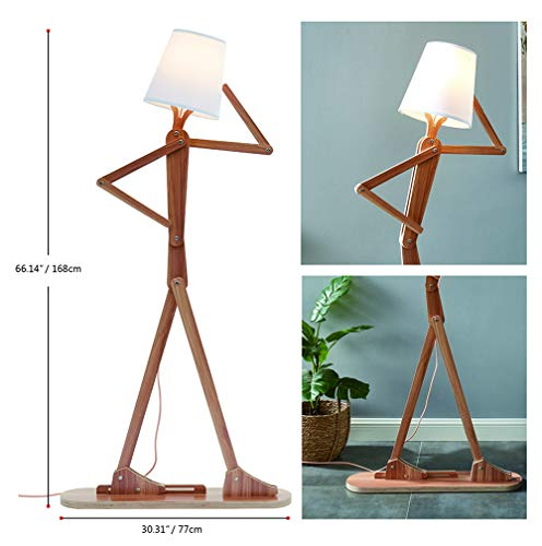 Hroome Modern Tall Wood Floor Lamp Standing Floor Lamps Adjustable Arm Art Design Diy Assembly Contemporary Decorative 5ft Cool Lights For Reading Corner Living Room Kids Bedrooms Office Buy Online