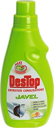 Destop Entretien Canalisation Gel Javel Fraîcheur Agrumes Flacon de 750 ml