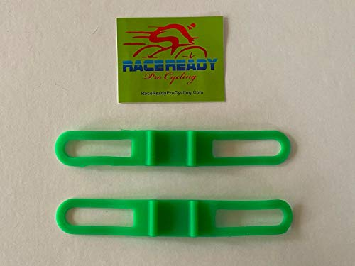 2 RaceReady - Elastic Band Handlebar Accessory Straps - Flashlight Torch Holder (Green)