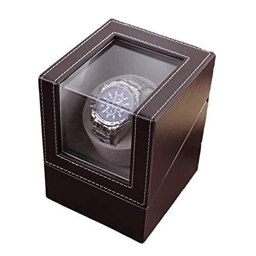 NC Watch Winder, Se Puede Añadir 1 Reloj, Ultra Silencioso Motor Anti-magnético, con Suave Y Flexible Tabla Almohada, Tamaño 160 * 130 * 120mm Tiempo preciso (Color : Black)
