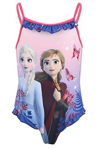 Disney Frozen 2 - Costume Intero 1 Pezzo Mare Piscina - Bambina - Prodotto Originale con Licenza Ufficiale [1871 Blu - 8 A - 128 cm]