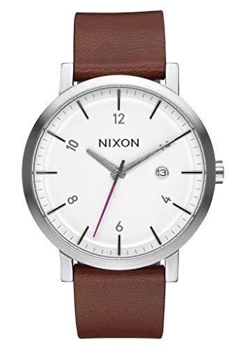 Nixon Herren Analog Quarz Uhr mit Leder Armband A945-2168-00
