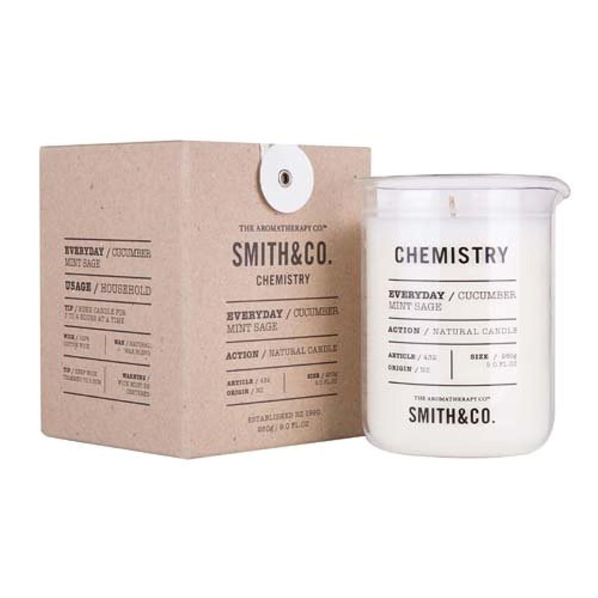 不倫不潔ハードリングSmith&Co. Chemistry Candle ケミストリーキャンドル Cucumber Mint Sage