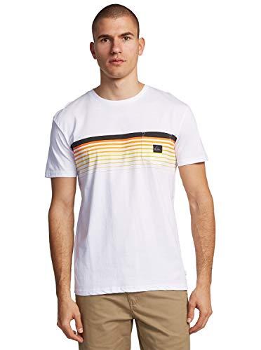 Quiksilver™ Slab - T-Shirt avec Poche - Homme - L - Blanc