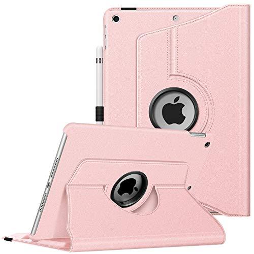 Fintie Hülle für iPad 9. Generation (2021) / 8. Gen (2020) / 7. Gen (2019) 10.2 Zoll - Intelligent Schutzhülle für unterschiedliche Betrachtungswinkel mit Auto Schlaf/Wach Funktion, Roségold