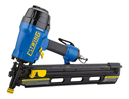 """Estwing EFR2190 Pneumatic 21 Degree 3-1/2"""" Full Round Head Framing Nailer Ergonomic and Lightweight Nail Gun with Depth Adjust, Select Fire Trigger, and Removeable No Mar Tip"""