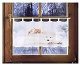 Scheibengardine KUSCHELZEIT 45 x 120 cm Caféhausgardine Weihnachtsgardine weihnachtliche Landhausdeko