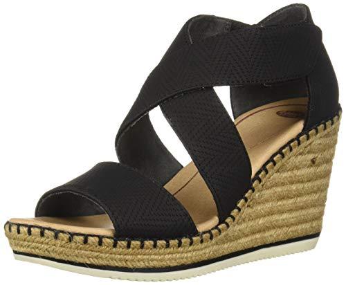 Dr. Scholl's Shoes Women's Vacay Espadrille Wedge Sandal, Black Altitude Print, 7 M US