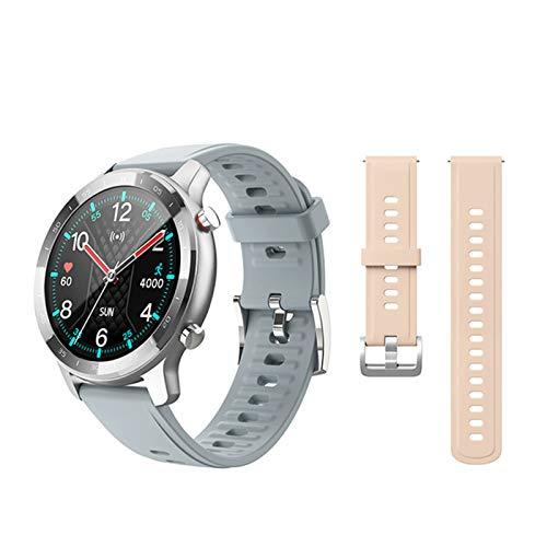 QLK Reloj inteligente S30 para hombre y mujer IP67 impermeable fitness Bluetooth smartwatch ritmo cardíaco monitor de presión arterial para iOS Android, M