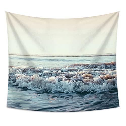 NHhuai Tapiz de Fractal para Dormitorio Sala de Estar Tapiz de Playa de Olas