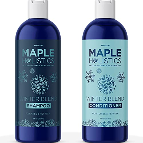 Dry Scalp Shampoo and Conditioner Set - Clarifying Shampoo and Conditioner for Build Up Scalp Care and Frizz Control - Hydrating Shampoo and Conditioner for Dry Damaged Hair with Mint Essential Oils