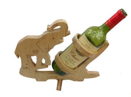 GMMH Diseño de Vino botellero de pie Soporte para Botella de Vino de Madera de bambú