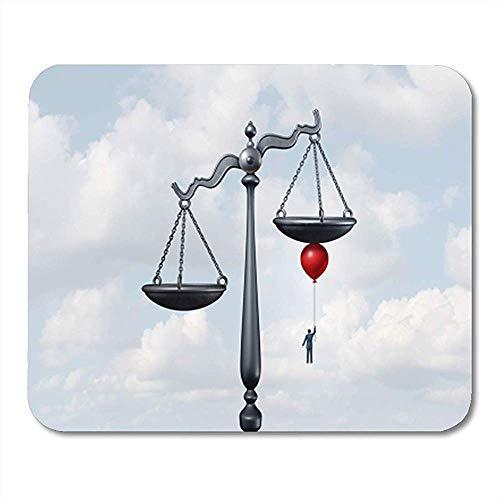 Mause Mat Kippen Sie Die Waage Der Gerechtigkeit Als Gericht Bewegt Gaming Mouse Pad Office Decor Mousepad Rutschfeste Gummi-Rückseite Mauspad 25X30Cm