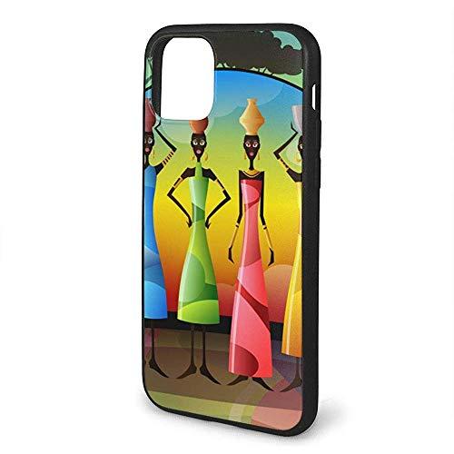 Inner-shop Compatibel voor Afrikaanse vrouwen met kleurrijke jurken anti-Scratch schokbestendig en anti-Drop bescherming TPU Cover Case