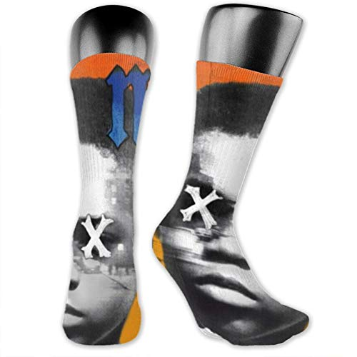 XCNGG Calcetines calcetines de becerro calcetines deportivos medias medianas Music NAS Medium Stockings, Practical Breathable Non-Slip Fashionable Socks with Unique Patterns, Suitable for Men and Wome