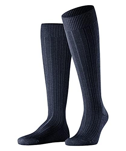 FALKE Herren Kniestrümpfe Teppich Im Schuh, Schurwolle, 1 Paar, Blau (Dark Navy 6370), 43-44 (UK 8.5-9.5 Ι US 9.5-10.5)