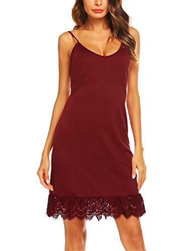 Zeagoo Damen Unterkleid, verstellbar, Spaghettiträger, Cami - - Large