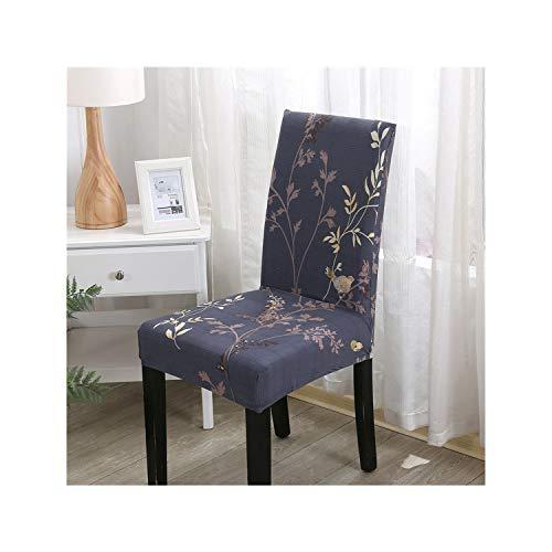 Cheryl Norri Blumendrucken Stretch Elastic Hussen Spandex für Hochzeit Esszimmer Büro Bankett-Stuhl-Abdeckung, Colour11, Universalgröße