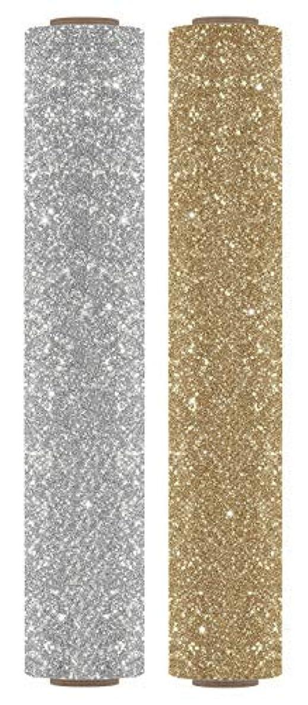 Firefly Craft Glitter Heat Transfer Vinyl Bundle | Precious Metals Glitter HTV Vinyl Bundle | Glitter Iron On Vinyl for Cricut and Silhouette | Pack of 2 Rolls - Glitter Gold HTV - 12