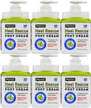PACK OF 6 - ProFoot Heel Rescue Foot Cream Argan Oil + COQ10, 16.0 OZ