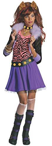 Monster High - Disfraz de Clawdeen Wolf para niña, infantil 5-7 años (Rubie