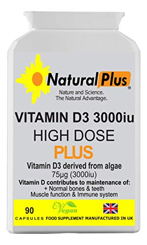 Vegan High Dose Vitamin D3 3000iu 90 Capsules £10.00