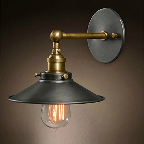 VanMe European American Retro Style Industriel Lampes Appliques Murales Chambre
