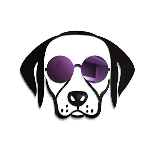 4ArtWorks - Cool Dog 3D Labrador Retriever with Sunglasses Wall Art - Purple Mirror Finish Sunglasses - for Lab, Dog & Street Pop Art Lovers - Made in The USA - Modern Home Decor (16' W x 16' T)