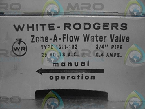 """White-Rodgers 1311-102 3-Wire Hydronic Zone Valve, 3/4"""" Tube, 24V"""