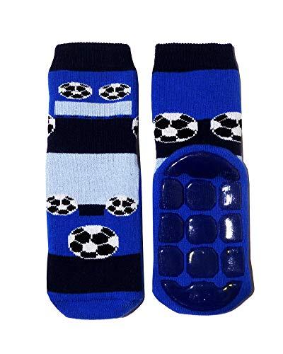 Weri Spezials - Calcetines antideslizantes para bebé y niños (plástico ABS, con diferentes diseños y colores) Balón de fútbol. 5-6 Años