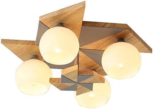 Beautiful Home Decoration lampen glazen plafondlamp gemaakt van licht hout lampenkap voor kinderen in de slaapkamer E27 4 creatieve lichten van de windmolen design vorm plafondverlichting voor bevestiging