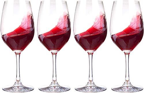 FSJIANGYUE Conjunto de Copa de Vino Tinto de 4 Copas de Vino exquisitas La Gran Copa de Vino Puede Contener 50 cl (Color : -, Size : 4pcs)