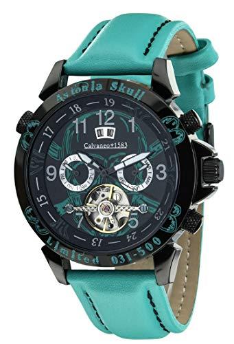 Calvaneo Herren Uhr Analog Automatik mit Leder Armband 107941
