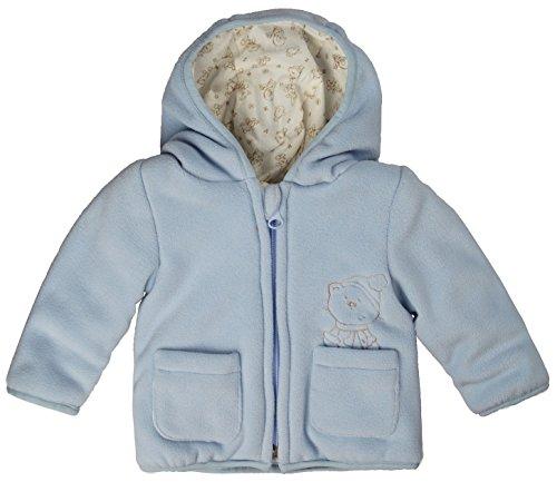 Kanz Unisex Baby Jacke Fleecejacke m. Kapuze 1/1 Arm 0003507, Blau (skyway blue 3018), 80 (Herstellergröße: 80)