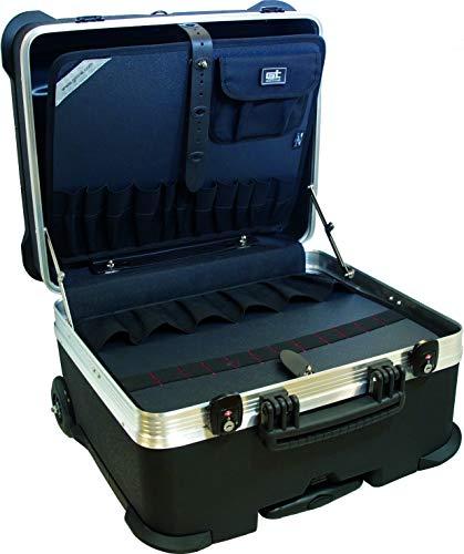 GT Werkzeugkoffer Rock Turtle PTS (ohne Inhalt, Koffer mit Rollen + Teleskopgriff, Werkzeugtrolley inkl. Werkzeugtafel, Bodentafel, Dokumententasche, Volumen 58,7 L) 488084