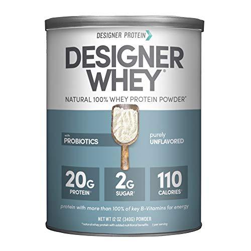 Designer Whey Protein Powder, Purely Unflavored, 12 Ounce, Non GMO